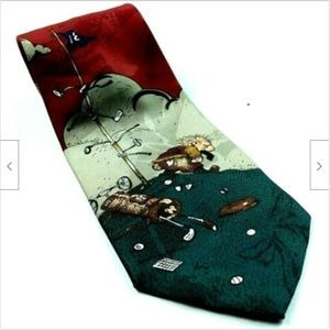 Balancine Hot Cakes Frustrated Grumpy Golfer Tie